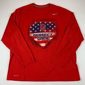 Perfect Game Nike Dri Fit Long Sleeve Shirt